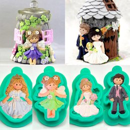 $enCountryForm.capitalKeyWord Canada - 1pcs Fairy Angel Princess Silicone Mold Wedding Decoration Brides Groom patisserie reposteria Fondant Cake Tool Cupcake Toppers Pastry Mould