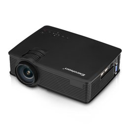 China Wholesale-Original Excelvan EHD09 Portable Mini Projector 800x480 pixels 1200 Lumens HDMI USB USB(5V) SD AV with HDMI Cable Proyector supplier home av cables suppliers