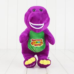 Chinese  30cm Dinosaur Singing Barney Child's Best Friend Plush Soft Stuffed Doll Toy for kids gift Sing I LOVE YOU Free Shipping EMS manufacturers