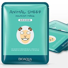 Sheep maSkS online shopping - BIOAQUA Tiger Panda Sheep Dog Shape Animal Face Mask Moisturizing Oil Control Hydrating Nourishing Facial Masks In stock