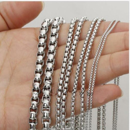jewelry findings links UK - wholesale Lot 5meter Silver Stainless Steel 3mm 4mm charming style Square Rolo Box- Link Chain Jewelry Finding   Marking Chain DIY