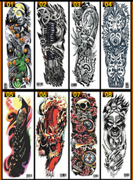 Wholesale Women Men Unisex Waterproof Temporary Tattoos Stickers Body Art Fake Tattoos Transfer Stickers Sexy Arm Stickers Removable