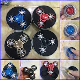 Fidget spiners online shopping - 2017 Newest Beads Metal Hand Spiners Aluminum alloy Tri Spinners Figet Finger Spinner for Kid And Adult Anti Stress Fidget Spiner