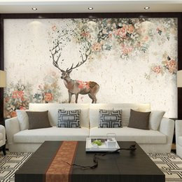 large tv mural wallpaper 3d NZ - Custom Any Size 3D Wall Mural Non-woven Large Wall European Retro Painting Living Room Bedroom Sofa TV Backdrop Photo Wallpaper