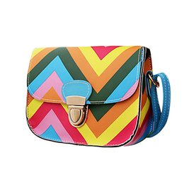 online shopping New Design Rainbow Chain Of Small Square Package women bag messenger bags Jun10