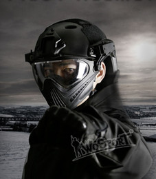 TacTical painTball equipmenT online shopping - WoSporT New outdoor tool Tactical Helmet with Mask for Airsoft Paintball CS WarGame Motorcycle Cycling Hunting tactical equipment
