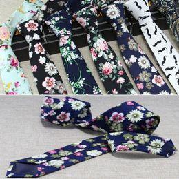 Wholesale Cotton Ties NZ - 2019 HOT Wedding neck tie Christmas necktie 34 color 145*6cm Jacquard necktie cotton neck tie Men's arrow Tie for Christmas gift