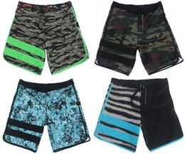 Short Élastique Pour Homme En Gros Pas Cher-Wholesale-Awesome 4-Way Stretch Camouflage Mens Bermudas Shorts Mode Quick Dry Beachshorts Hommes High Quality Elastic Fabric Boardshorts