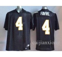 newest collection a3699 636aa southern mississippi golden eagles 4 favre black jersey
