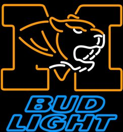 lighted bud beer signs Canada - Bud Light University of Missouri Neon Sign 24*20 Neon Light Beer Sign
