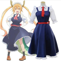 Maillot Costume Pas Cher-Kukucos New Anime Miss Kobayashi's Dragon Maid Loli Tohru Dress Cosplay Costumes Outifit Sweet Suit pour Jung Women Girls
