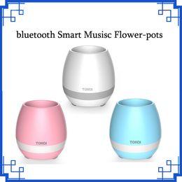 $enCountryForm.capitalKeyWord Canada - 2017 Newest Bluetooth Smart Musisc Flower-pots Cute Round Home Garden Office Decor Planter Plastic Plant Flower Pots Garden DHL