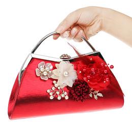 $enCountryForm.capitalKeyWord Canada - Women Clutches Purses Bags Flower Beaded Prom Wedding Evening Handbag Flower Evening Clutch Bags Pearl Beaded Handbag