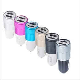 Car Charger volt online shopping - BRAND NOKOKO Best Metal Dual USB Port Car Charger Universal Volt Amp for Apple iPhone iPad iPod Droid NokiaDHL