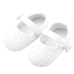 $enCountryForm.capitalKeyWord Australia - Wholesale- New baby girl shoes Cotton fabric Bowknot newborn baby girl shoes kids first walkers newborn shoe size baby booties nice LD
