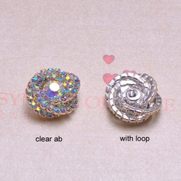$enCountryForm.capitalKeyWord Canada - (J0184) 21mm rhinestone button with loop at back,silver plating,all crystals,two colors for choose