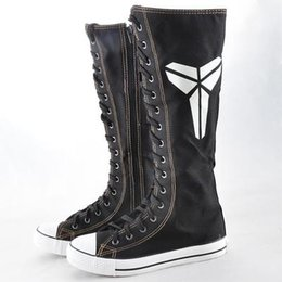 $enCountryForm.capitalKeyWord Canada - 2017 New arrival girls zipper knee high boots female students canvas boots women casual boots ladies Stage shoes girls flat heel shoes
