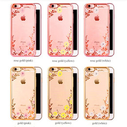 secret iphone 2019 - Luxury Bling Diamond Electroplate Cases Secret Garden Flowers Soft Tpu Cover For iphone 5s se 6 6s plus 7 8 plus X samsu