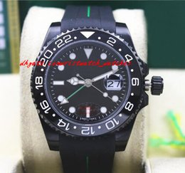 $enCountryForm.capitalKeyWord NZ - New Arrival Luxury 116710 Mens Rubber Bracelet Ceramic PVD Coating Black Bezel & Dial 40MM Automatic Mechanical Men Watches New Arrival