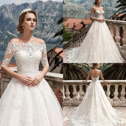 2017 off shoulders a line wedding dresses lace elegant short cap sleeves corset back a line corset back bridal gowns with sweep train