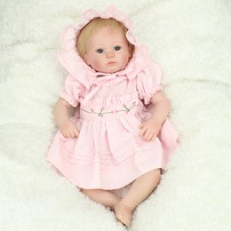 $enCountryForm.capitalKeyWord Canada - 18Inch Silicone Baby Reborn Dolls With Cotton Body Dressed in Nice Sweater Lifelike Doll Reborn Babies bonecas Toys for Girl