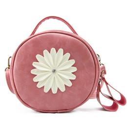2017 Bolsos de la manera margarita flores bolso cosmético de las mujeres cremallera bolsa de hombro multifuncional bolso monedero de la Moneda en venta
