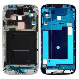 s4 bezel Canada - OEM New For Samsung Galaxy S4 i9500 i9505 i337 Front Housing Frame Bezel Plate Middle Frame Replacement Free DHL