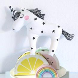 $enCountryForm.capitalKeyWord NZ - 41x30CM INS Baby Unicorn Stuffed Toys Cute Licorne Pillow Animal Shaped Doll Cushion Decorative Bedding Pillow for Kids Room Christmas Gifts