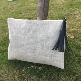 $enCountryForm.capitalKeyWord NZ - Jute Cosmetic Bag with Data Line PU Tasssel Wholsesale Blanks Coated Jute Material Make Up Bag Accessories Bag with Data Line DOM106440