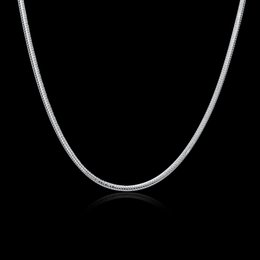 $enCountryForm.capitalKeyWord Canada - 925 Sterling Silver Snake Chains 16inch~24inch 3mm Jewelry Snake Unisex Necklace Chain Good Quality Free Shipping C022