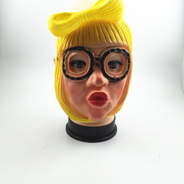 Human Face Masks NZ - Cheap New Party Cosplay Lady Gaga Mask Halloween Latex Human Mask Costume Full Face Woman Man Children Mask Anonymous Masque Toys Free Ship