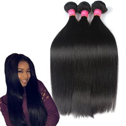 Weave Wholesale prices online shopping - Price Straight Human Hair Wefts  Bundles Brazilian Peruvian Malaysian A 2c7a95ac7