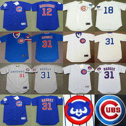on sale e5e35 0abd9 mens chicago cubs 31 greg maddux blue with white pinstripe ...