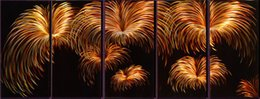 "$enCountryForm.capitalKeyWord NZ - Aluminum 3D Metal Wall Art White Fireworks Design Large Scale set of 5 Panels 60""x 24"""