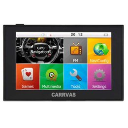 $enCountryForm.capitalKeyWord NZ - 5 inch HD Touch Screen Car GPS Navigation Bluetooth AVIN Capacitive Screen FM 8GB 256MB Vehicle Truck GPS NAV 521 IGO Lifetime Map