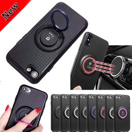Cellphone siliCone Case Cover online shopping - TPU Iface Cellphone Case with Magnetic Car Ring Holder standable mobile phone back cover soft case For S8 S9 plus iphone x PLUS