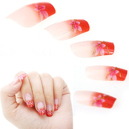Short french nail designs online short french nail designs for sale wholesale 24pcs french acrylic short false nails art tips manicure pink orange kit artificial full stiletto fake nail art design prinsesfo Image collections
