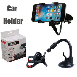 Suction cupS phone holder online shopping - Car Mount Long Arm Universal Windshield Dashboard Mobile Phone Car Holder Degree Rotation Car Holder with Strong Suction Cup X Clamp