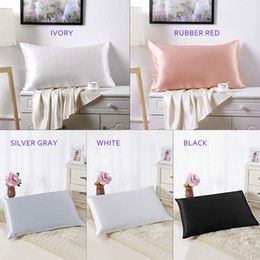 China 100% Pure and Organic Mulberry Silk Pillow Case - 19 Momme Queen Size Pillowcase in 5 Colors suppliers