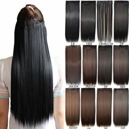 Sara Women Long Clip In Straight Hair Extension Fashion Synthetic Straight  Hair Piece Extensions Hairpiece 60CM dd5d9b9f3