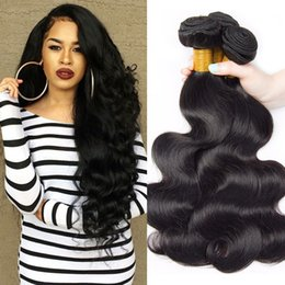 $enCountryForm.capitalKeyWord NZ - 4 Bundles Brazilian Body Wave Virgin Human Hair Weave Bundles Unprocessed Brazilian Virgin Hair Body wave Human Hair Extensions Black 1b