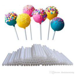Candy Making Tools Canada - 100pcs Lot Pop Food Candy Lollipop Sucker Sticks Chocolate Cake DIY Lollipop Sweet Candy Making Sticks Candy DIY Tools XN391