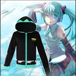 Vocaloid christmas costumes online shopping - unisex Cosplay Costume Matryoshkamiku Hoodie Hatsune Miku Coat Vocaloid Candy Color Jacket Sportswear Fashion love