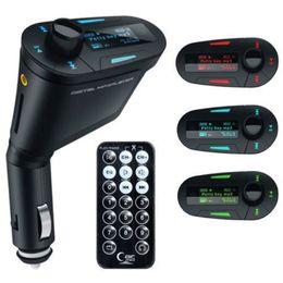 $enCountryForm.capitalKeyWord Canada - Wholesale- New Popular 3.5mm Audio Blue LCD Car Kit Car MP3 music Player Remote Wireless FM Transmitter Modulator Auto Radio+USB SD MMC