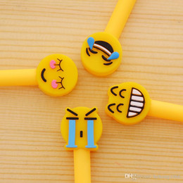emoji stationery NZ - Newest Emoji Pen Cartoon Black Neutral Writing Tool Creative Signature Gel Needle Tube Pens Student Stationery Kid Gift 0 72ds F R