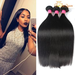 online shopping Gaga Queen Hair Factory aPeruvian Malaysian Indian Brazilian Straight Virgin Hair Extensions Human Hair Weave Dyeable Double Wefts