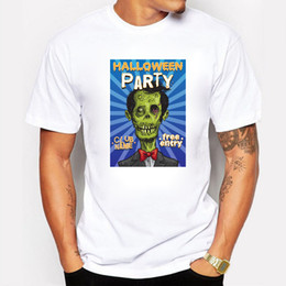 $enCountryForm.capitalKeyWord NZ - Men Halloween Party Club T Shirt Zombies Skull Funny Party Swag Men T-shirt Cop Pirate Vampire Gentleman Halloween Top Tee