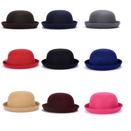 Sombrero de copa de otoño invierno para damas y niños Sombrero de cubo de  lana sintética 6c1cbc766aa