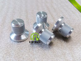 diameter speaker UK - HIFI audio Aluminum Volume knob 10pcs Diameter 25mm Height 22mm amplifier knob speaker knob