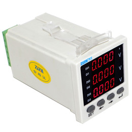 digital displays only NZ - Freeshipping Three-phase AC Voltage Meter Intelligent Digital Display Voltmeter 48x48mm